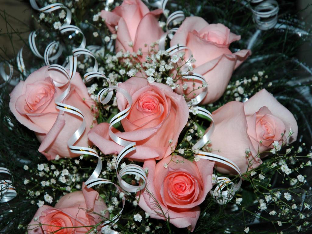 Картинки букеты цветов с надписями 4