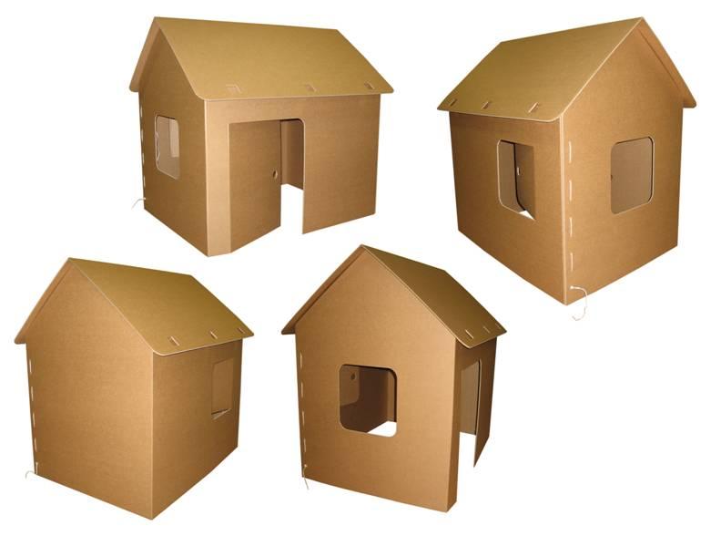 Домик для детей из картона своими руками