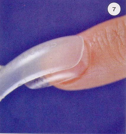 Наращивание ногтей верхними формами гелем