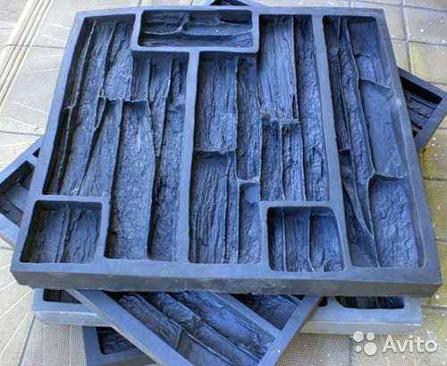 Форма для гипсовой плитки под камень
