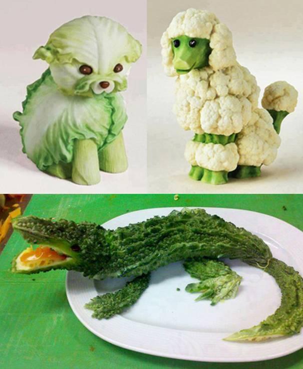 Как сделать из овощей фруктов фигурки