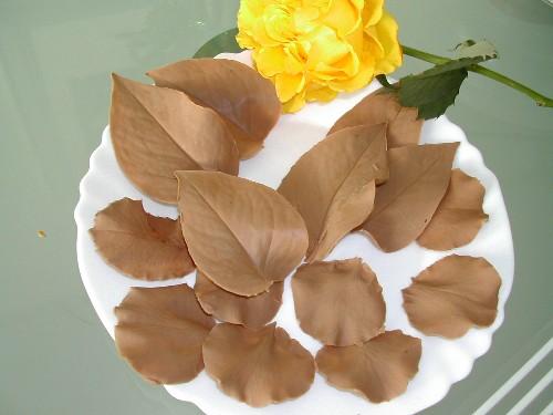 шоколадные листочки! - Тортики!