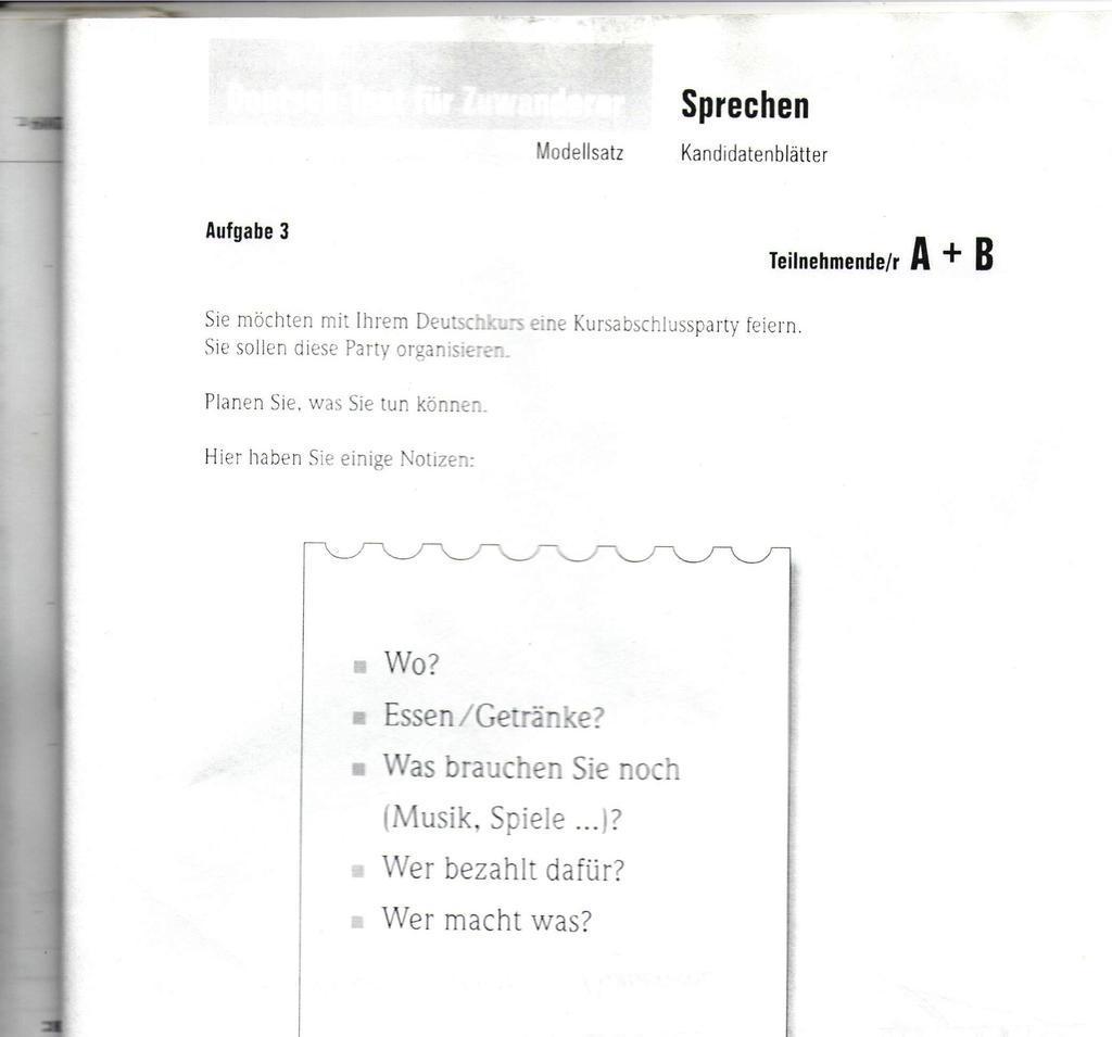 рассказ о себе на немецком b2