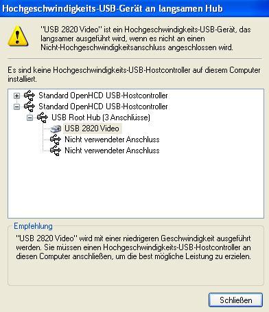 hochgeschwindigkeits usb hostcontroller