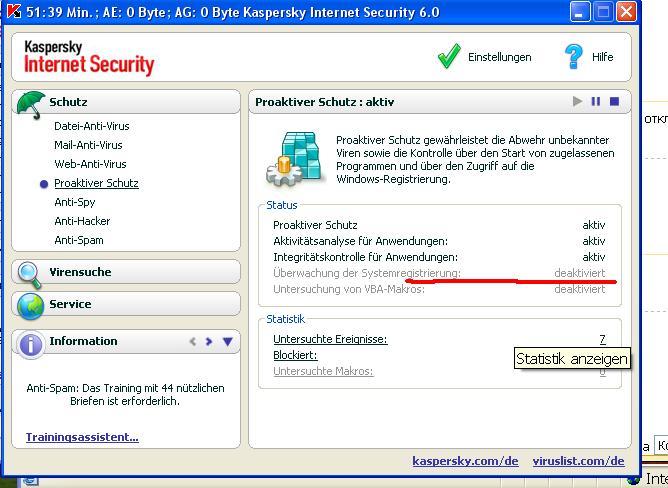 Касперский KIS & KAV - Тема для тех у кого слетел ключ 6.0 Shareware